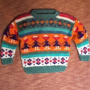 VINTAGE Hand Woven Sweater, Girls